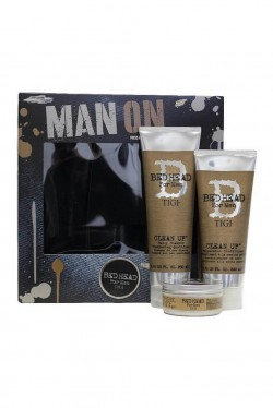 TIGI Bed Head Man On šampon 250 ml + kondicionér 200 ml + vosk 85 g