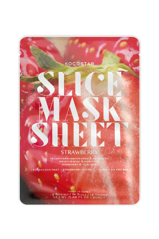Kocostar Slice Mask Sheet Strawberry pleťová maska