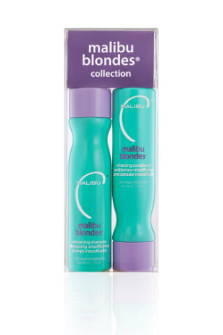 Malibu Blondes Enhancing Collection šampon 266 ml + kondicionér 266 ml + wellness sáčky 4 kusy