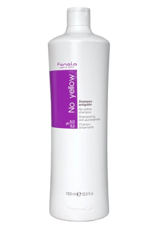 Fanola No yellow shampoo antigiallo šampon na šedivé, zesvětlené a odbarvované vlasy 1000 ml